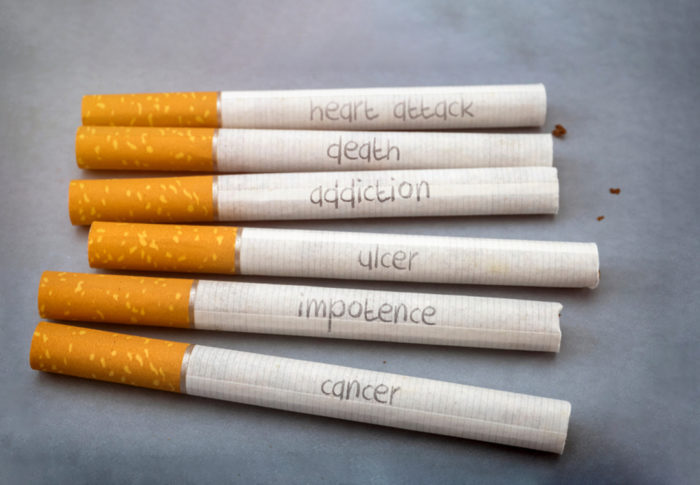 Health risks and diseases caused by smoking